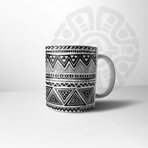 ماگ ازتک سنتی سیاه سفید